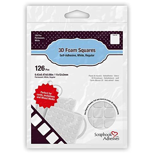 Scrapbook-Klebemittel von 3L 3D Schaumstoff-Quadrate Regular, Weiß, Einheitsgröße