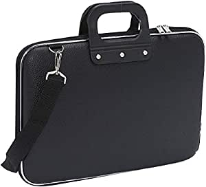 ShopHere Laptop Messenger Handbag Durable Briefcase Carrying Case for 15.6 in Laptops & Notebooks with Shoulder Strap Unisex Soft Shell Durable PU Leather Briefcase Laptop Bag