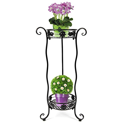 yuda-2ripiani-metallo-ondulato-giardino-patio-indoor-outdoor-plant-display-3colori-uk-small