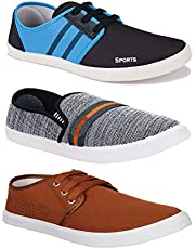 Bersache Men's Combo Pack of 3 Walking Shoes  Gym Shoes