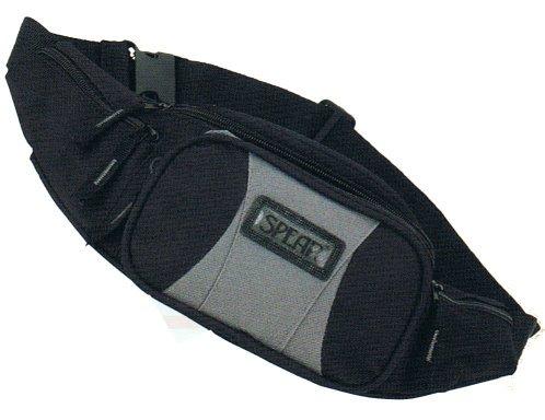 Gürteltasche 705 SPEAR Allrounder mit RV-Rückfach in schwarz/rot/grau ca.32,0 x 13,0 x 13,0 cm schwarz/rot/grau