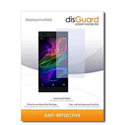 disGuard® Bildschirmschutzfolie [Anti-Reflex] kompatibel mit Razer Phone 2 [2 Stück] Entspiegelnd, Matt, Antireflektierend, Extrem Kratzfest, Anti-Fingerabdruck - Panzerglas Folie, Schutzfolie