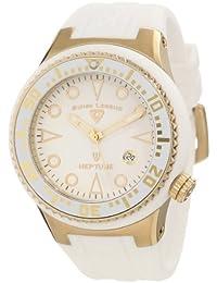 Swiss Legend  21848D-YG-02-WHT - Reloj de cuarzo para hombre, con correa de silicona, color blanco