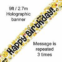 Emoji Happy Birthday Banner 9FT