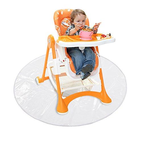 Matte Hochstuhl (Baby Bodenschutzmatte Wiederverwendbarer wasserdichter Hochstuhl Bodenschutz zum Spielen und Füttern)
