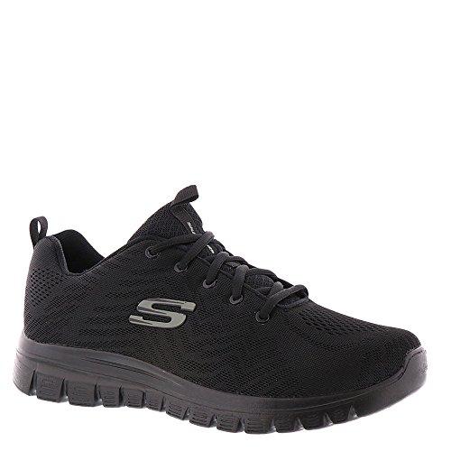 Skechers Damen 12615 Low-Top Sneaker, Schwarz - schwarz/schwarz - Größe: 36 1/2 C/D EU -