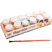 healifty 12pcs Finger Pintura DIY no tóxico Lavado Bar Graffiti Pintura para niños