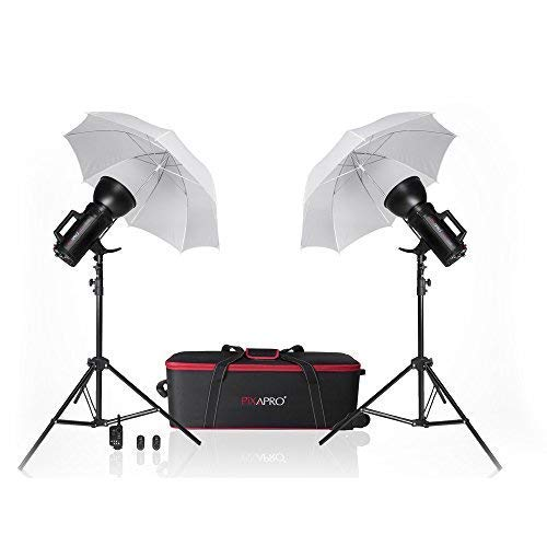 PIXAPRO® LUMI400 800Ws Lüfterkühlung Doppel Kopf Studio Stroboskop-blitz Set (400/400) Modische Schöne Photographie Nackt Foto-shooting Baby Schule Portrait FastDelivery Tr ademark  2YearWarranty - Flash Twin Softbox Kit