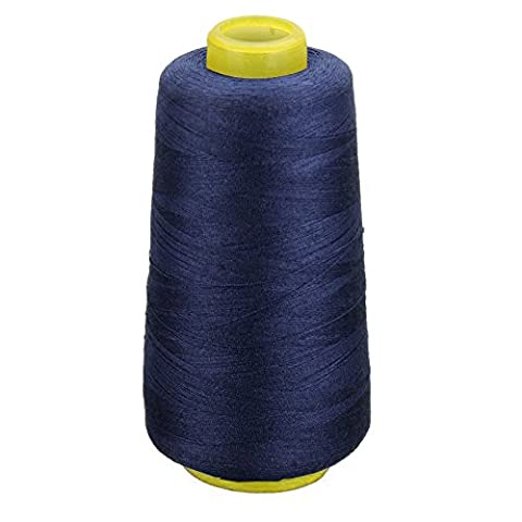 CHIC*MALL Assorted Colour Spools Cotton Thread For Sewing Hand Machine (Navy blue)