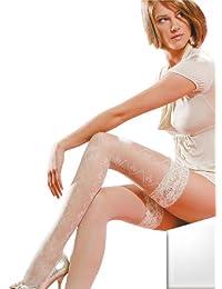 Gabriella - Bas autofixants -  Femme Blanc Blanc Medium/Large