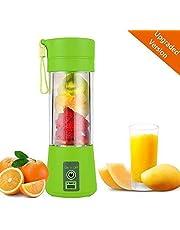 Gopani Juice Maker Machine Blender Bottle Fruit Bottle Blender Portable USB Juicer Bottle Blender Smoothie Maker Electric Juicer Machine for Home (Multicolour)