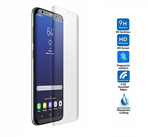 Price comparison product image C63® Samsung Galaxy S8+ ( Plus ) / G955 3D Curved Crystal Clear Glass Screen Protector. Anti Scratch Transparent Protector