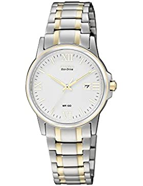 Citizen Damen-Armbanduhr Analog Quarz Edelstahl EW1914-56A
