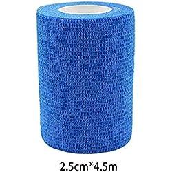 Vkospy Cinta 2.5cmx4.5m al Aire Libre Auto-Adhesivo de Tobillo Dedo de Primeros Auxilios Vendaje elástico Impermeable y Transpirable muñeca Guardia