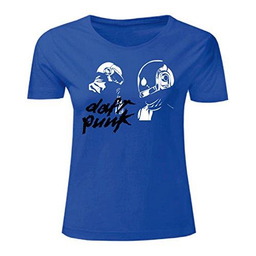 Art T-shirt, Maglietta Daft Punk, Donna Blu
