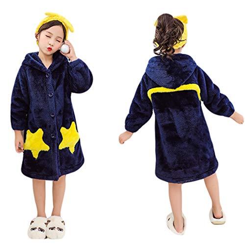 Albornoz Star Capucha Pijama Niñas Niños Robe Forro