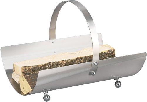 Edelstahl Holzkorb Rollo-1