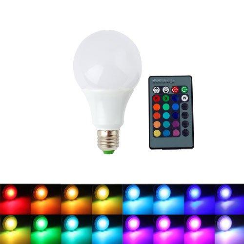ALED LIGHT AC85-265V E27 9W RGB Ampoule LED 16...