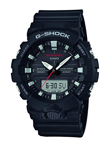 Casio Reloj Analogico-Digital para Hombre de Cuarzo con Correa en Resina GA-800-1AER