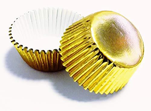PME BC717 Goldene Backförmchen für Cupcakes, Mini-Format, Packung mit 45 Stück, Kunststoff, 7 x 7 x 3.8 cm, Einheiten