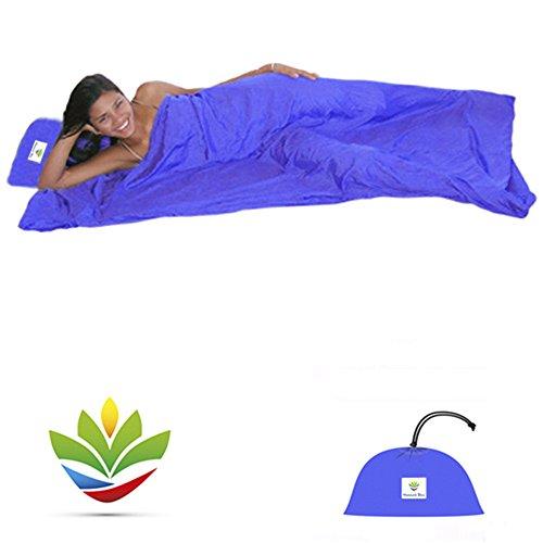Preisvergleich Produktbild Hammock Bliss Sleep Sack - Travel and Camping Sleeping Sheet - Sleeping Bag Liner and Travel Pillow - Dream In Bliss