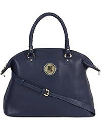Da Milano Women's Handbag (D.Blu) (LB-4121_D.BLU_WAX)