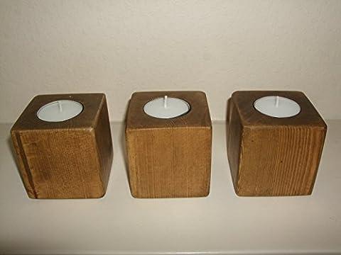 Stoneywood - Rustic 3 Cube Tealight Holder
