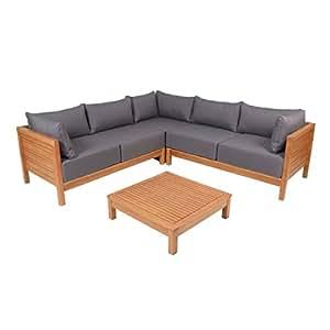 greemotion 128640 lounge set goa loungem bel aus akazien holz garnitur 3 teilig f r. Black Bedroom Furniture Sets. Home Design Ideas