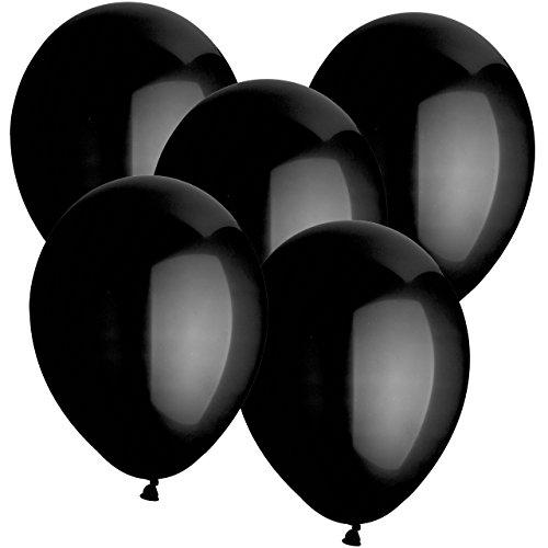 Gummiballons Latexballons 20 Stück - Ø 30cm - geeignet als Heliumballon mit Helium - freie Farbauswahl - Weiss Rot Hellblau Blau Dunkelblau Gelb Limonengrün Grün Orange Lachs Pink Rosa Lila Schwarz Klar Durchsichtig Transparent (Schwarz) (Schwarz Und Lila Hochzeit)