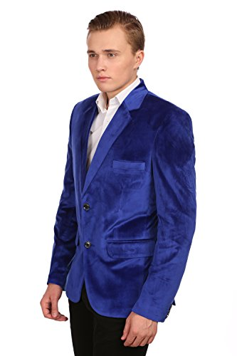 Wintage - Blazer - Solid - Manches Longues - Homme Bleu
