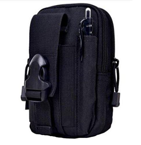 GOUQIN Outdoor Rucksack Klassische Mode Outdoor Display Handy Taschen Paket Outdoor Rucksack Intrusion Defense Plattform Mit Paket Klettern Taschen Schwarz