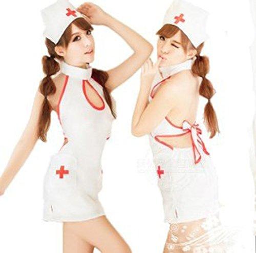 GGF Uniform Sexy Female Sexy Krankenschwester Uniform Sexy Kleidung Cosplay Sexy Arzt Uniform,Weiß,Durchschnittlic