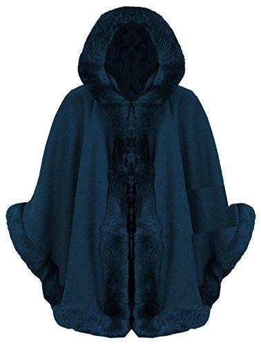 Janisramone Damen Jacke farbig Marineblau