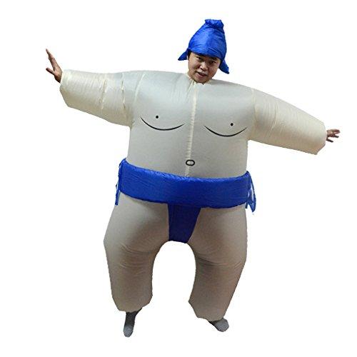 Blesiya Aufblasbares Kostüm Sumo Ringer Fasching Karneval Blau - Aufblasbar Sumo-ringer Kostüm
