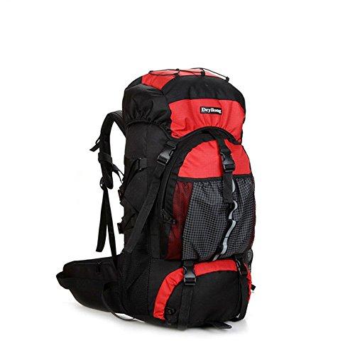 Imagen de huntvp  de alpinismo  deportiva  con cubierta de lluvia gran  impermeable 65l para las actividades aire libre senderismo caza viajar etc color rojo
