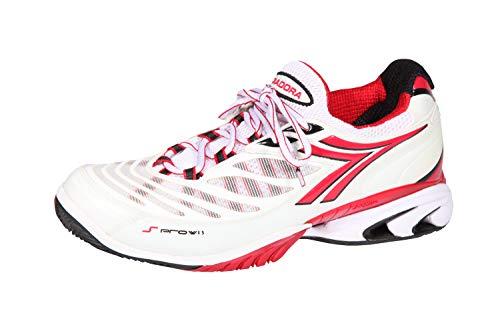 Diadora Speed PRO Wi5 - Scarpe da Tennis, Colore: Bianco/Rosso/Nero, Bianco (Bianco), 42 EU