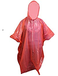 ADULTS REUSABLE ALL WEATHER EMERGENCY RAIN HOODED PONCHO