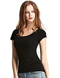 FASHION LINE Black Women's Short-Sleeve T-Shirt
