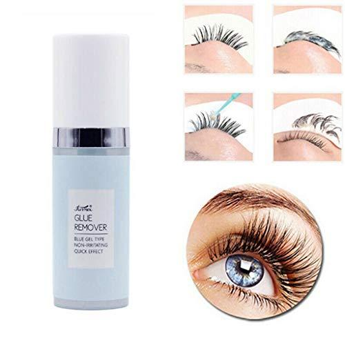 Augen Make-up Entferner Eyelash Glue Remover Eye Lashes Adhesive Removal Gel für Falsche Wimpern - Milde Reinigung 15g VNEIRW (Blau) - Aloe-gesichts-reinigungs-pads