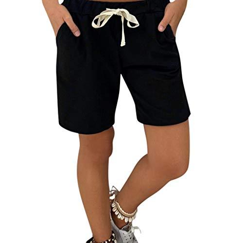 Denim Baumwolle Shorts (Weant Shorts Damen Sommer Jeans High Waist Jeansshorts Mode Baumwoll Hot Pants Lochjeans Vintage Baggy Basic Kurz Jeans Hose Kurzschlüsse mit Taschen Hotpants Strandshorts Sommerhose)
