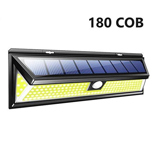 Solar Wandlampe Strassenlicht Solarlicht 3 Modi Motion Sensor Im Freien Wasserdichte IP65 Helle Energiesparende Hof Garten Lampen 118/24 LED,180/76 COB LED (Color : 180-COB/LED)