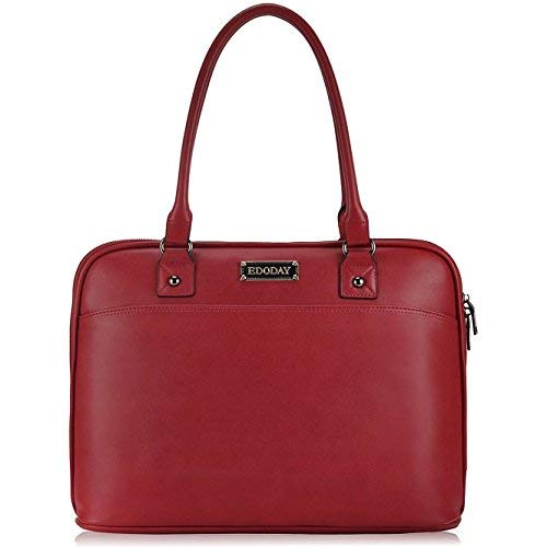 EDODAY Laptop-Taschen-Tasche, 15,6-Zoll-Computer-Beutel-Schulter-Laptop-Taschen-Kasten für Arbeit Einheitsgröße D.red -