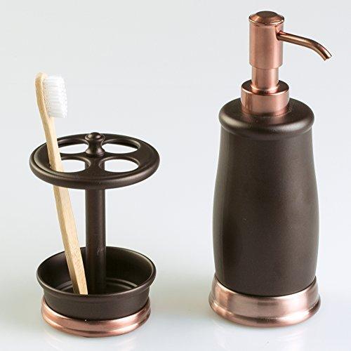 mDesign bronce baño Set