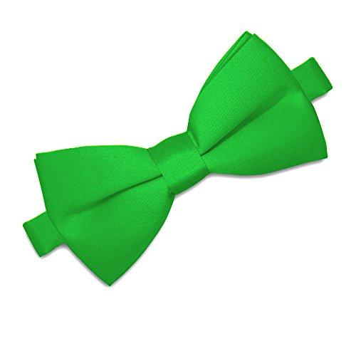 Soul-Cats® Kinder Fliege vorgebunden verstellbar Hochzeit Kommunion Jugendweihe , Farbe:grün (Fliege Jungen Grün)
