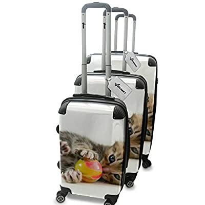 Collection 133, Personnalisé 360 degree 4 Roues Valise de Voyage Rigide Luggage Bagage Hard Case Cover Luggage Trolley Travel Bag