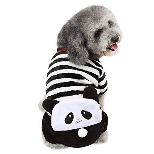 (Amphia - Haustierkleidung aus korallenrotem Fleece - Haustier-Hundewelpen-Katzen-Winter-warme Kleidung-Samt-Strickjacke-Kostüm-Jacken-Mantel-Kleid(Mehrfarbig,XS))