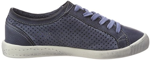 Softinos Ica388sof Washed, Baskets Femme Bleu Marine