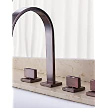 KISSRAIN® Vasca da bagno rubinetto - Antique - Cascata - Ottone (olio strofinato bronzo)