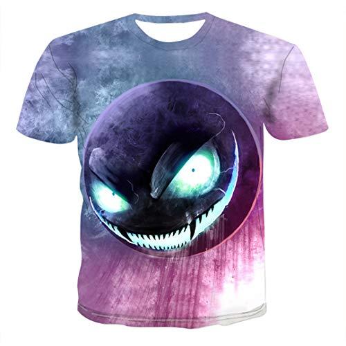 3D Print Tshirt O-Ausschnitt Kurzarm T-Shirt Kleidung Hip Hop Top T Sommer Lustig Z04 XL -
