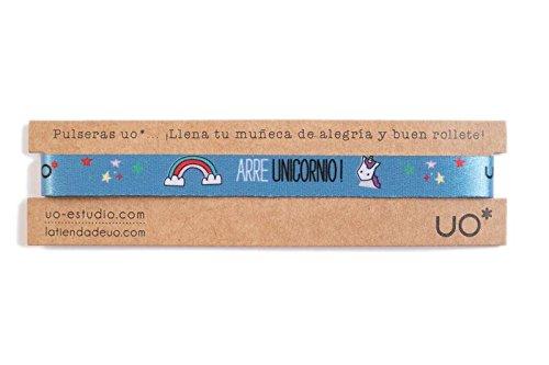 UO - Pulsera estampado, color azul (Arre Unicornio)